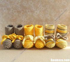 Handmade Crochet Baby kids Shoes footwear 2012-30