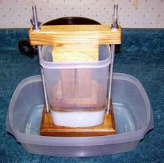 My husband is on a mission to make me a cheese press so we can use up the milk from our newly freshened cow.D Does any one have any pictures they would be willing to post of their cheese presses? Cheese Maker, Cheese Shop, Homemade Cheese, Homemade Butter, Amish Recipes, Gourmet Recipes, Cheese Press, Cooking Cheese, Cheese Cultures