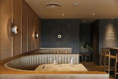 Viet Next Door: Vietnamese Tapas Bar in Adelaide by Genesin Studio // Yellowtrace Pallet Seating, Bar Seating, Banquette Seating, Kitchen Banquette, Restaurant Design, Restaurant Bar, Villas, E Design, Modern Design