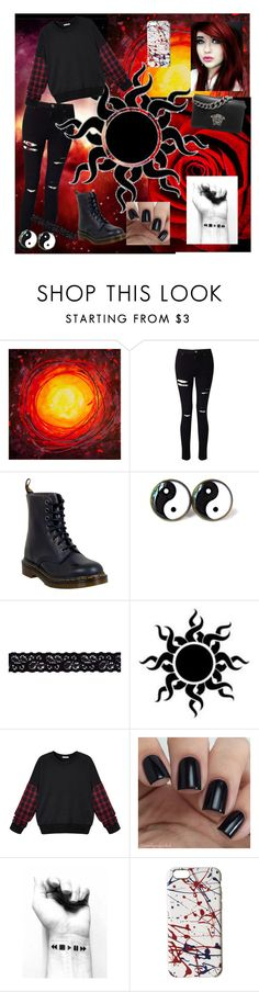 """a lot of red."" by cassidy2928 ❤ liked on Polyvore featuring Miss Selfridge, Dr. Martens, Akira, WithChic, Marc Jacobs and Versace"
