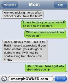 trendy funny texts from parents mothers children - Quotes - Funny Text Messages Funny Shit, Funny Texts Jokes, Text Jokes, Cute Texts, Funny Relatable Memes, Stupid Funny Memes, Funny Fails, Hilarious, Fun Funny