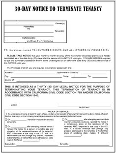 Blank Eviction Notice Form   Free Word Templates - tenant eviction ...