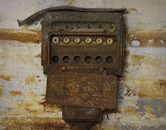 old metal industrial panel fuse box west trumbull gray art deco rh pinterest com Old-Style Fuse Boxes Outdoor Fuse Box