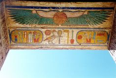 the winged solar disc symbol can be found in ancient Egyptian temples