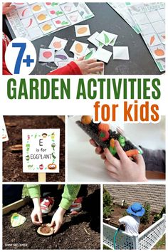 Fun garden activities for kids! Plan and grow your backyard garden, find fun garden printables for kids, easy garden sensory play and so much more. Get kids excited about the garden with this fun list of activities. Diy Garden Projects, Garden Crafts, Projects For Kids, Crafts For Kids, Kids Diy, Garden Ideas, Art Projects, Fun Activities For Toddlers, Spring Activities