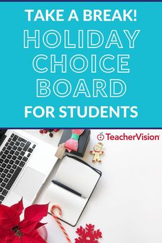 "Give your students a brain break before holiday break with this activity choice board for remote or in-person cohorts of students! It will encourage your students to take on some unique mental challenges and physical activities by moving away from an ""all academics, all the time"" mentality and awaken their minds, bodies, and senses in a different way! #holidaychoiceboard"