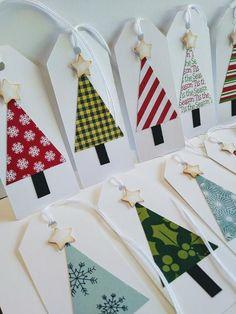 Christmas Card Crafts, Christmas Gift Wrapping, Christmas Projects, Handmade Christmas, Holiday Crafts, Holiday Gif, Etsy Christmas, Tree Patterns, Rustic White