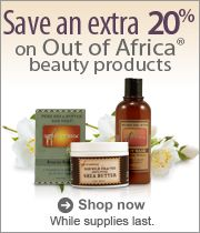 20% off Out of Africa products