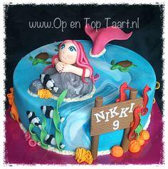 Mermaid cake ( Zeemeermin taart )