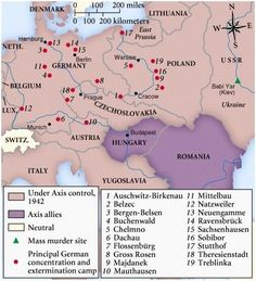 This map gives me the chills ... how many extermination camps there were and how many lives needlessly lost