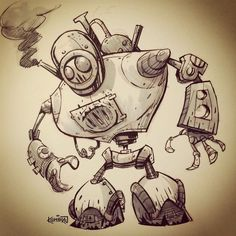 Image result for steampunk concept sketch