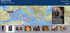 Free Technology for Teachers: An Interactive Map of The Odyssey: ArcGIS Explorer-alternative to Google Maps option