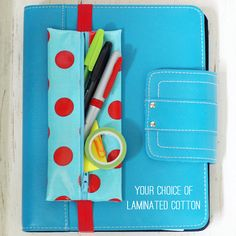Banded planner supply case coloring book pouch Bible