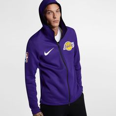 Men's Clothing Objective Nwt Nike Los Angeles Lakers Mens Pullover Fleece Hoodie Sweatshirt Sz Med Yellow