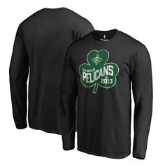 New Orleans Pelicans Fanatics Branded St. Patrick's Day Paddy's Pride Long Sleeve T-Shirt - Black - $31.99