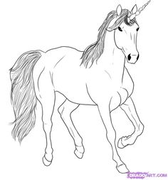 How To Draw A Simple Unicorn Step 9 Disenos En 2019 Pinterest