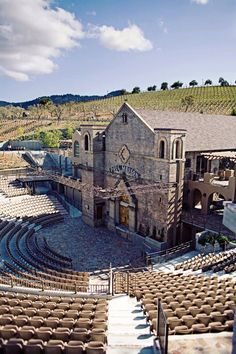 The Mountain Winery ampatheater-The awesomest winery in Northern California isn't in Napa. It's right here.