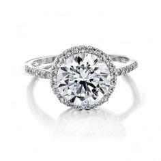 Vintage 925 Silver Round Brilliant CZ Diamond Engagement Ring 2.75ct
