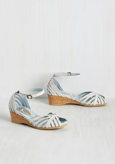 You'll be happy to walk from 'pier' to there with these white peep toes leading the way! Their stylishly strappy uppers are reinforced with molded, cushioned footbeds, broad cork heels, and treaded soles for optimum comfort. Go on, this leather pair by Worishofer is boardwalk-ready!