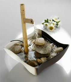 This Indoor Water Fountains are the easiest way to add fine art to your home. Home Fountain, Bamboo Fountain, Diy Water Fountain, Tabletop Water Fountain, Indoor Water Fountains, Waterfall Fountain, Indoor Fountain, Garden Fountains, Fountain Ideas