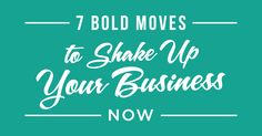 Forget your resolutions. Instead, let's focus on making ONE BOLD MOVE in your business in 2017. I have seven ways for you to put a stake in the ground and inject new life into your business starting NOW. Most of these seven I have done myself, so I know they can boost your business, give ... Click to Read More