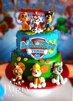 Wow!! How awesome is the birthday cake at this Paw Patrol Birthday Party?! See more party ideas and share yours at CatchMyParty.com #pawpatrol #cake