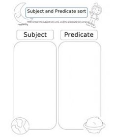 Subject and Predicate SORTER. Take this idea and make it more mature. Teaching Language Arts, Classroom Language, Teaching Writing, Teaching Tools, Teaching Ideas, School Classroom, Classroom Activities, School Fun, Future Classroom