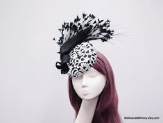 Items similar to Black Feathers White Lace Hat Fascinator Wedding Spring Racing Carnival Party Special Occasion Melbourne Cup Kentucky Derby Millinery on Etsy Black And White Hats, Spring Racing Carnival, White Lace Fabric, Metal Comb, Melbourne Cup, Black Feathers, Kentucky Derby, Spring Wedding, Fascinator