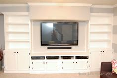 center designs turn a closet into a built in entertainment center