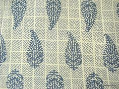 Jaipur Paisley Block Print / Stamped Indian Cotton Fabric by Yard via Etsy