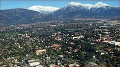 Claremont, CA, with Mount Baldy in the background