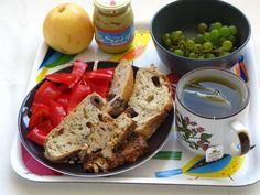 Ein frisches und buntes Mittagessen aus dem elterlichen Garten bei Gourmandises Vegetariennes.