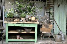 Garden set - 2011 - www.heurebleueantiques.com