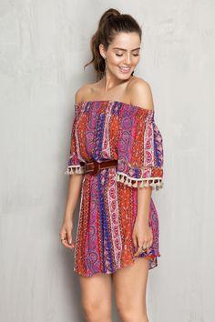 Vestido estampa sand | Dress to
