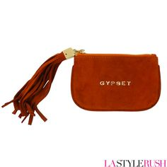 Check out the one and original Gyp-Set Pouch by CC Skye. This pouch is big enough for cards and cash and with glam gold lettering of Gyp-Set and an over the top suede tassel. If you love the style of this bag, you will love every piece from CC Skye! Available at LAStyleRush.com !