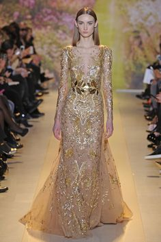 Zuhair Murad Spring/Summer 2014 Couture Line, geez this is fabulous ! Can you imagine being there to see these gowns , mind blowing! Couture Mode, Style Couture, Couture Fashion, Runway Fashion, Paris Fashion, Beautiful Gowns, Beautiful Outfits, Zuhair Murad Dresses, Festa Party