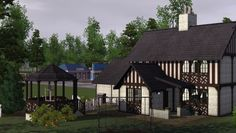 """nox-lux: """" The Tudor - Download For Building challenge's week nine: Tudor style. Extra screenshot of the second level. Size: 20x30 Price: 81,154 Expansions: Base game compatible CC Used But Not..."""