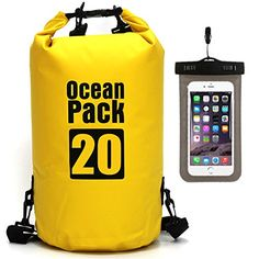 e9f64e69e72f Waterproof Dry Bag - Roll Top Dry Compression Sack Keeps Gear Dry for  Kayaking Beach Rafting Boating Hiking Camping Swimming Floating and Fishing  with ...