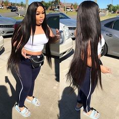 Lace Front Wigs Black Hair half wigs for natural black hair In Dianawi – wcwigs Thick Girl Fashion, Curvy Fashion, Look Fashion, Plus Size Fashion, Fashion Tips, Thick Girls Outfits, Curvy Girl Outfits, Plus Size Outfits, Long Weave Hairstyles