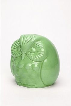 This owl bank would go perfect with the new color scheme I want in our family room...too bad I already have it in white! $8