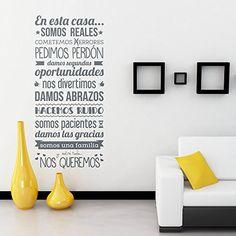 "Vinilo Decorativo ""En esta casa somos reales..."" Proyecto Vinilo http://www.amazon.es/dp/B00QQZ7AV0/ref=cm_sw_r_pi_dp_siS-vb03WTB2J"