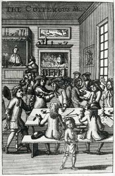 Ned Ward, The CoffeeHous Mob, frontispiece to Part IV of Vulgus Britannicus, or the British Hudibras (London, Courtesy the British Library. Secret And Whisper, London History, Colonial America, Slice Of Life, British Library, Historical Romance, American Revolution, American Women, 17th Century