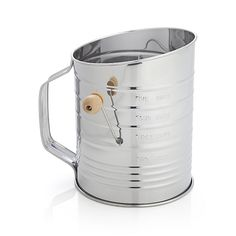 Hand Crank 5-Cup Flour Sifter | Crate and Barrel