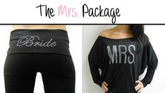 Can't wait for this to get here! MRS off the shoulder and Bride Yoga Pants Package. by BrideBikini, $44.99