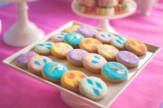 Cookies from a Rainbow Unicorn Themed Birthday Party