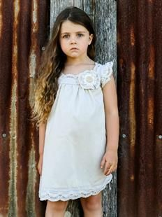 STONE LACE DRESS - Flowergirl Dress, Girls Clothing, Kids Photography, Rustic Photo Shoot, Wedding Ideas