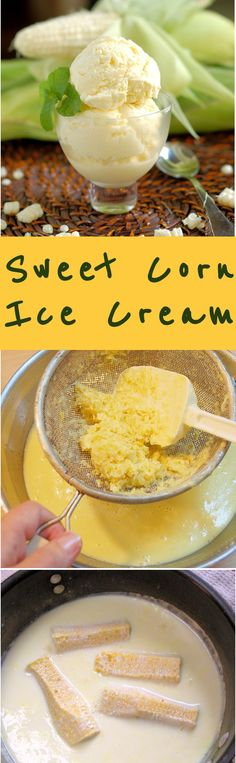 Sweet Corn Ice Cream is easy to make with fresh summer corn. Make it for #SundaySupper dessert.