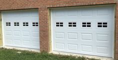 Two 9x7 Model 2216 garage doors with Stockton glass installed by the Richmond store.  #teamappledoor