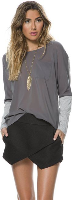 SWELL NEARLY THERE POCKET LS TEE > Womens > Featured > SWELL Exclusives | Swell.com