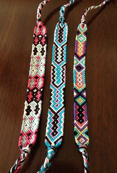 Colorful friendship bracelet  choose ONE by TangyTrinkets on Etsy